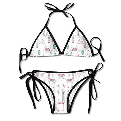5fceb8337e14 Women's Sexy Bikini Set Fabric Design 4 Fabric Custom Tie 2 Piece Bikini  Suits Pushed Up Bathing Swimwear 2