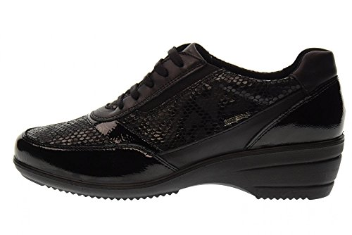 ENVAL SOFT scarpe donna sneakers zeppa 89860/00 Nero