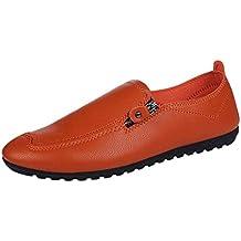 Qiusa Zapatillas de correr para hombres, zapatillas de deporte Zapatillas con cordones Pisos Chanclas Chanclas