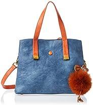 Zeneve London Womens Satchel Bag, Blue - 1191832241