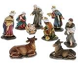 hLine Krippenfiguren Set 9 Krippen Figuren Tiere sehr schön verarbeitet 13 cm