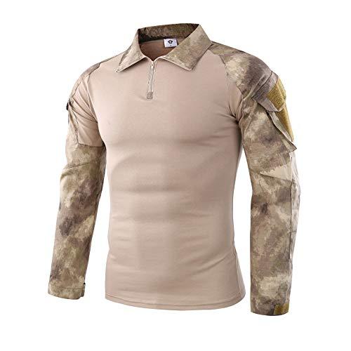LANSKIRT Männer Tactics Camouflage Langarm muskulöser Basic Bluse T-Shirt Herren Jacke Strickpullover Outdoor Jacke wasserabweisend