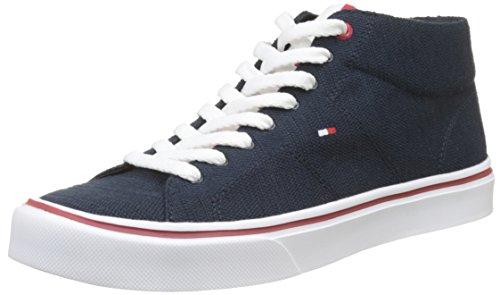 Tommy Hilfiger Herren Lightweight Knit Mid Cut Sneaker Blau (Midnight 403)