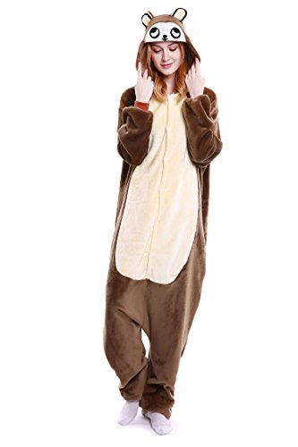 Preisvergleich Produktbild Youson Girl® Einhorn Kostüm Pyjamas Tierkostüm Schlafanzug Verkleiden Cosplay Kostüm zum Karneval Fasching Halloween (M: Höhe (61.8inch-65.7inch / 158cm-167cm),  Bär)