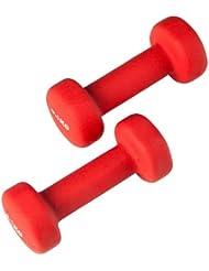 Ultrasport Gymnastikhanteln / Neoprenhanteln mit Soft-Touch-Griff und Anti-Roll-Funktion, Kurzhanteln für Frauen und Männer, 2er-Set Aerobic Hanteln, Gewichte von 2x 0,5 kg bis 2 x 4 kg