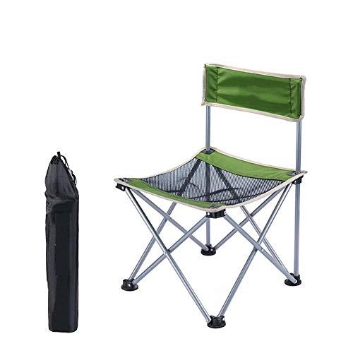 YLCJ Camping Stuhl Outdoor Stuhl, Ultra Lightweight Faltbare Tragbare mit Tragetasche, Perfekt für Garten/Camping/Angeln/Wandern/PIC-NIC/Park
