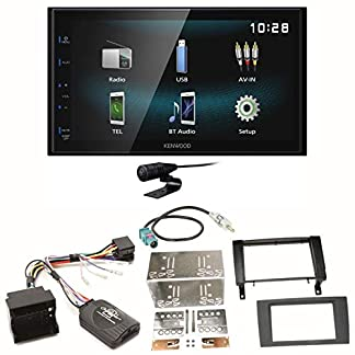 Kenwood-DMX-120BT-Bluetooth-Freisprecheinrichtung-USB-MP3-Autoradio-2-DIN-Moniceiver-Einbauset-fr-Mercedes-SLK-R171-ab-2008