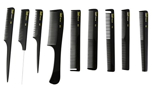 Roots Hair Combs - Cutting & Styling Combs Kit - Set of 9