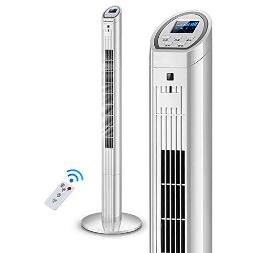 LFLFGXQ JHome-Sockel-Ventilator-Turm-Ventilator-oszillierende LED-Anzeigen-Stiller Ventilator mit Fernbedienung 7.5 Stunden-Timer mit der automatischen Abschaltung, ideal für Haus und Büro, Weiß 40W -