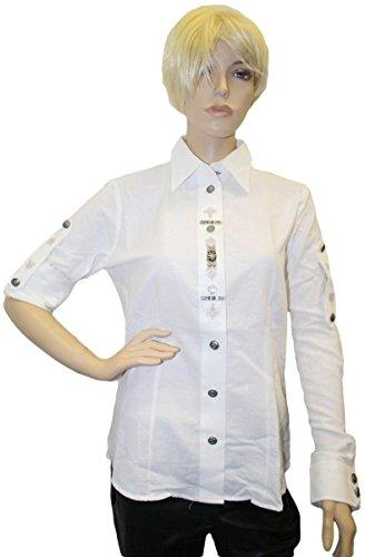 Trachtenbluse Trachtenlederhosen-bluse weiß, Größe:42