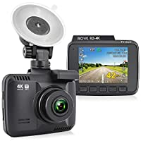 """Rove R2-4K Dash Cam Built in WiFi GPS Car Dashboard Camera Recorder with UHD 2160P, 2.4"""" LCD, 150 Wide Angle, WDR, Night Vision"""