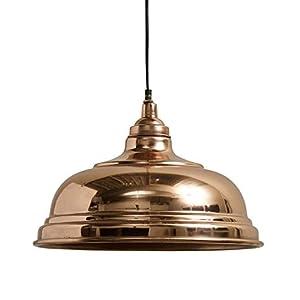 Nordal Lampen - Hängelampe BELL Kupfer Fassung E27 max. 40 Watt Durchmesser: 32 cm keine Deckenabschlusskappe