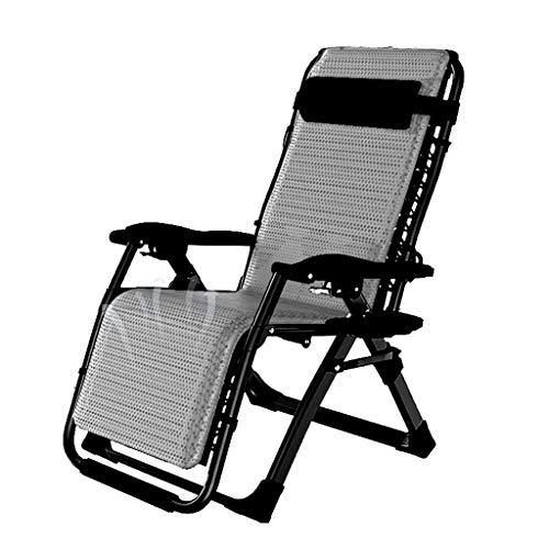 YUER Liegestuhl Garten Sonnenliege, Einzelbüro Nickerchen Mittagspause Stuhl faul Rückenlehne Stuhl, Reclining Garden Chair Strand Sonnenliege Liegestühle in Tweed Wetterfest (Color : G)