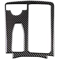 Zerama Carbon Fiber Cup Holder Panel Covers Replacement For Mercedes W204 2007-2013 W212 2010-2012 C Class E Class