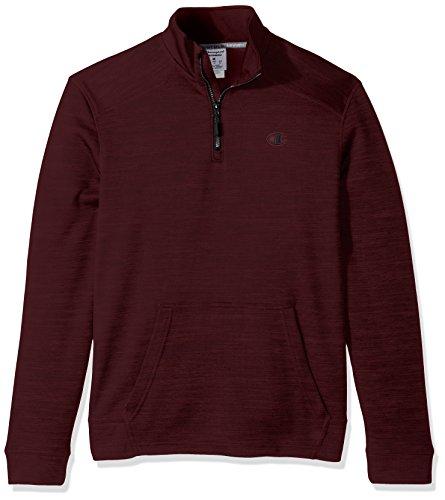 Champion Herren Sweatshirt Bordeaux Red Heather/Black