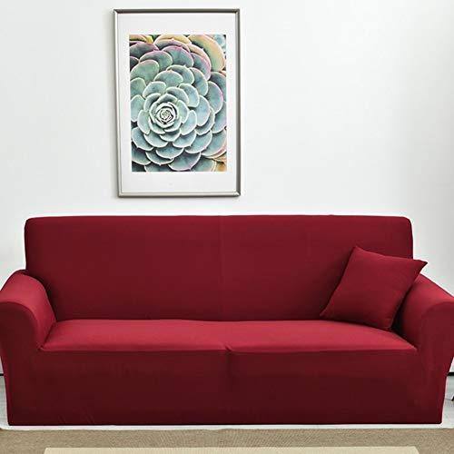 WENROUMIAO-SFJ Wasserdicht Sofabezug, Elastische Trägerlos Weich Möbel Sofa abdecken Anti-rutsch Nicht schrumpfen Schmutzabweisend Sofa Handtuch-rot 4 Sitzer 235~300cm(93~118inch)