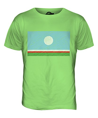 CandyMix Sacha Kritzelte Flagge Herren T Shirt Limettengrün