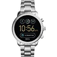 Fossil Montre connectée Explorist – Smartwatch Homme étanche en Acier Inoxydable - Compatibilité iOS & Android - Coffret Montre avec Son Chargeur