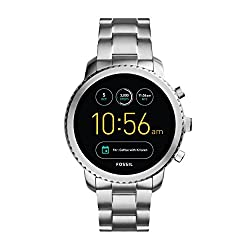 Fossil Gen 3 Smartwatch Q Explorist Stainless Steel | Men's Smartwatch Compatible With Android & Ios - Activity Tracker, Smartphone Notifications, Water Resistant