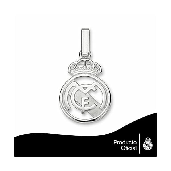 Colgante escudo Real Madrid Plata de ley calado pequeno [6812] – Modelo: 30-050