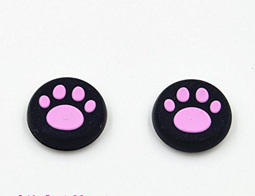 Rosa 4-PCS Aufsätze Thumb Grip Stick Kappe CAPS für PS2, PS3, PS4, Xbox 360, Xbox One, Wii U Controller (Pink 4pcs) (Monster Energy Call Of Duty)
