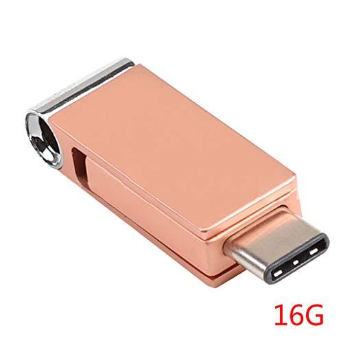 Morza USB 3.0 Typ-C-Metall-USB-Flash-Laufwerk Pendrive 16GB 32GB 64GB USB Stick Pen Drives Flash Typ-C Telefon -