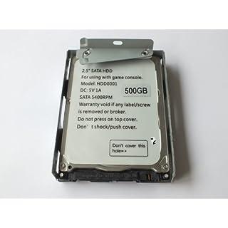 AMTOP 2,5 Zoll SATA Festplatte mit HDD Super Slim Halterung für PS3-System CECH-400x-Serie (500g)