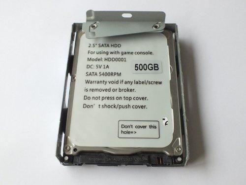 Preisvergleich Produktbild AMTOP 2, 5 Zoll SATA Festplatte mit HDD Super Slim Halterung für PS3-System CECH-400x-Serie (500g)