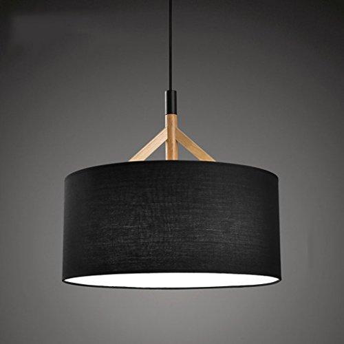 Lampes moderne minimaliste salon chambre étude creative ronde bois chiffonniers lustre noir rollsnownow couleur