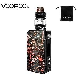 VOOPOO Drag 2 Kit da 177 W TC con Drag 2 MOD + UFORCE T2 Serbatoio, Sigaretta elettronica Adotta il chip Gene.FIT con Vapeonly Bag No Nicotina, No E Liquid (B-Scarlet)