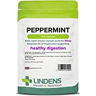 Lindens Peppermint Oil 50mg Capsules | 100 Pack | Essential Oil of Peppermint supporting healthy digestion