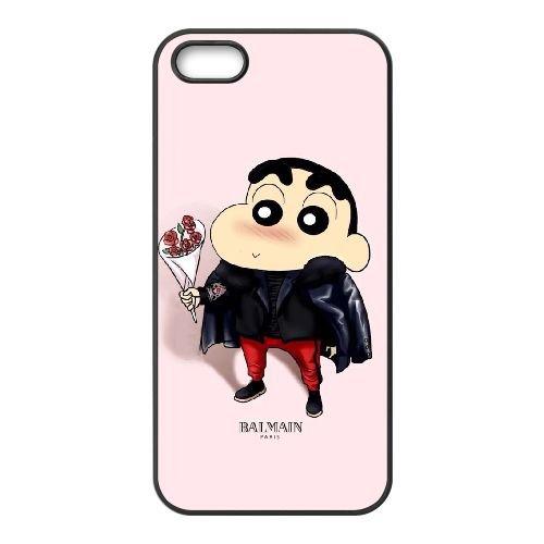 Crayon Shin Chan coque iPhone 4 4S Housse téléphone Noir de couverture de cas coque EBDXJKNBO16787
