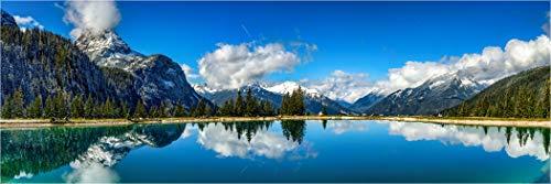 Bis 3 Meter Breite! XXL Panorama Glasbild, Ehrwalder Almsee Österreich, als Exklusive Wanddeko Wandbild, Bild in Galerie Qualität auf Sicherheitsglas inkl. Aufhängung