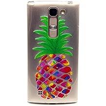 mutouren para LG h422móvil, teléfono móvil para LG Spirit 4G LTE H420h422h440N C70Case Cover TPU silicona Funda transparente ultra fina Gel, antiarañazos de trasera Funda Funda Bumper Color Blanco–Chica y diente de león