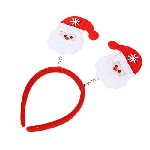 wdoit 1Weihnachts Haarband Urlaub Party Zubehör mit Kopfbedeckungen Dekoration 12* 25cm (Handschuhe) 12*25cm Santa Claus