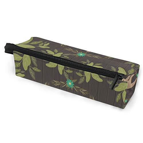 Ahomy Federmäppchen, Faultier im Dschungel-Szene, Polyester, für Damen, Make-up-Tasche, Brillentasche, Tasche mit Reißverschluss und Schlaufe zum Aufhängen