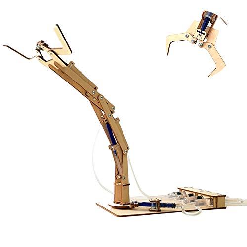 Hilai Diversión 1 Pc Science Kid Brazo robótico de Aprendizaje y exploración hidráulico Brazo robótico Kit de construcción de Rod Regalo Educativo del Juguete para el Estudiante