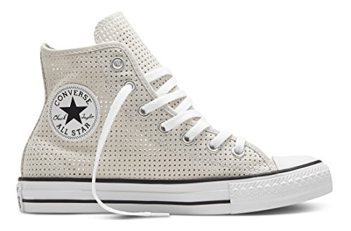 Converse Damen Sneakers Chuck Taylor All Star C551628 High-Top Grau (Parchment/White/Black)