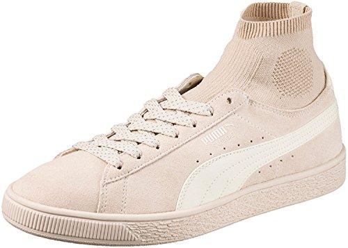Puma Camurça Sapatos Clássico Meias Bege