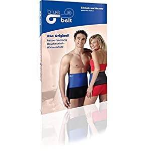 blue belt Bauchweg Gürtel Original Unisex für Frauen und Männer, fördert das Abnehmen am Bauch ohne Diät, Strafft die Haut – Schwitzgürtel, Thermogürtel Fitnessgürtel für Damen und Herren