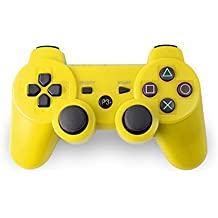AMGGLOBAL® Yellow Portable Wireless Rechargable Bluetooth Gamepad Remote Joystick Controller Gamepad For Playstation 3 PS3