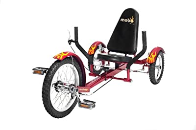 "MOBO Cruiser ""Triton"" recumbent bicycle Tricycle - Red"