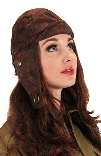 Elope 141396 Aviator Hat - Brown (Aviator Kostüme)