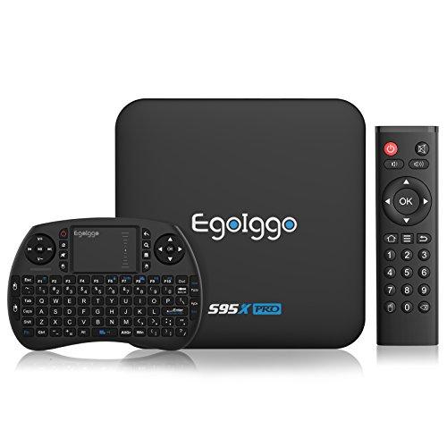 TICTID S95X Pro Android 6.0 TV Box mit Mini Tastatur 2GB Ram + 16 GB DDR3 Smart TV Box / Amlogic S905X Quad-Core ARM Cortex-A53 / 100M LAN/2.4g Wifi / unterstützt 4k