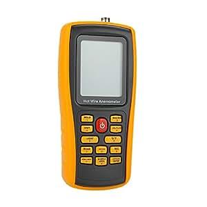 KKmoon GM8903 Chaud fil anémomètre numérique vent vitesse/Air débit/température mètre testeur mesure 0 ~ 30m/s avec Interface USB & capteur mince