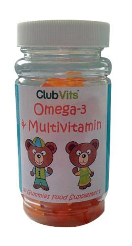 Club Vits - 30 softgels d' omega 3 & multivitamines pour enfants
