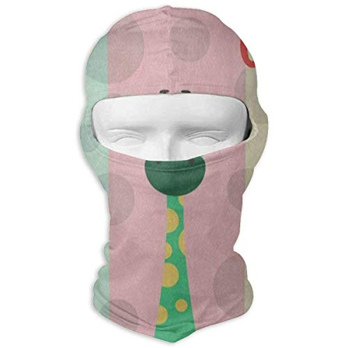 Vidmkeo Balaclava Colored Giraffe Polka Dot Full Face Masks Motorcycle Neck Hood Unisex17 Polka Dot Hood