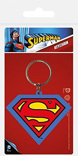 1art1 73355 Superman - Shield Fan-Schlüsselanhänger 6 x 4 cm