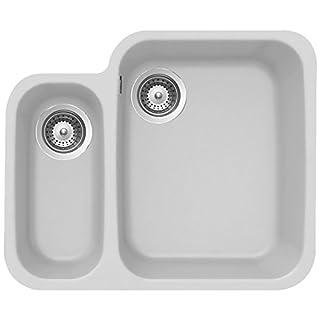 Schock Solido N-150 1.5 B Granite Alpina White Undermount Kitchen Sink & Waste