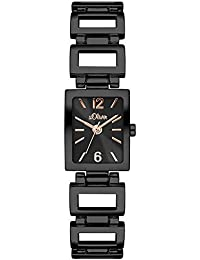 s.Oliver Damen-Armbanduhr Color Clash Analog Quarz Alloy SO-3065-MQ